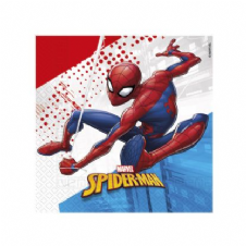 20 Spiderman Compostable 3-ply Paper Party Napkins